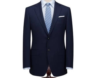 Custom Made Suit in Midnight Blue