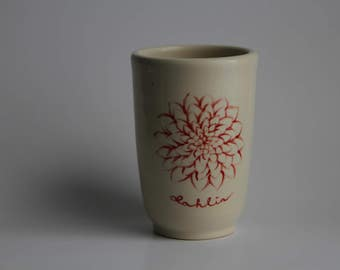 Hand Painted Ceramic Cup, Pottery Tumbler