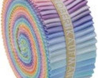 Kona Cotton Strips Roll up Rollup  Pastel Palette RU-230-41 jelly roll Robert Kaufman precut 2 1/2 inch strips.