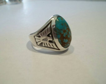 Turquoise and Silver Thunderbird Ring