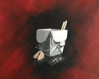 Chinese Food - Take Out Collection - Acrylic on Canvas