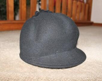 OPHELIE HATS Black Wool Felt Hat