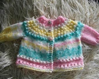 Gorgeous handknit baby cardigan