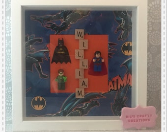 Personalised Lego scrabble frame