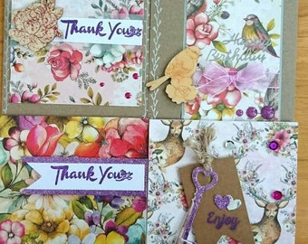 Cards set, Thank you card, Birthday card