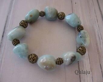 Amazonite bracelet nuggets ornament
