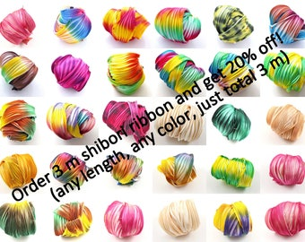 BIG SHIBORI summer SALE! Any 3 m (3.3 yard) mix of colors, discount 20% applied!