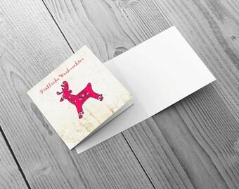 Reindeer - Individual Greetings Card 148mm x 148mm