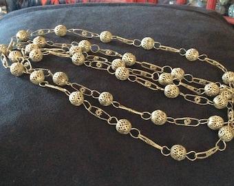 Vintage Mexican Silver Wedding Necklace