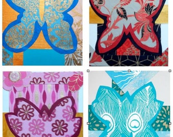 Butterfly Silhouette Card Pack