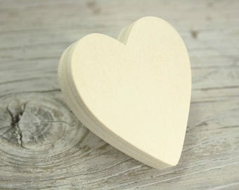Furniture handle, heart raw to paint wooden furniture button