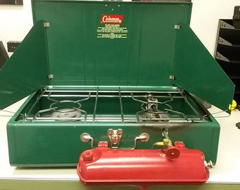 Vintage Coleman Camping Stove, Overall good condition, Old camping stove, Vintage Camping,