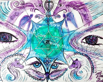 "New-copy ""World Healing Vibrations"" 40 x 30"