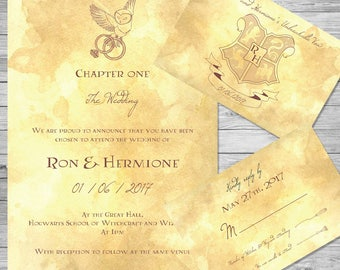 Perfect Harry Potter Wedding Invitation Set | Owl | ~Digital~