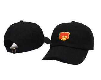 Kanye West embroidered college bear dad hat