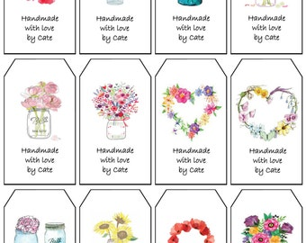 Floral Gift Tags Double Sided Small - PDF FILE ONLY
