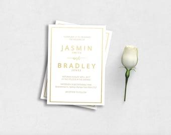 Full Foil Wedding Invitation Print