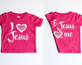 Jesus Loves Me Shirts Christian T Shirts for Toddler Girl Clothes Christian Shirts Gifts for Girls Valentines Gifts Cute Shirts For Girls