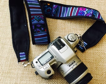 Guatemala Camera Starp or bag strap you choose made out of fabric and vintage huipil