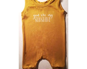 you are my sunshine harem romper | modern kids clothes | hip baby clothes