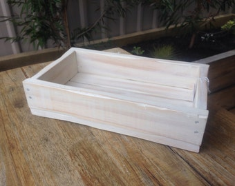 rustic mini crate, (white-washed), 22cm x 13cm