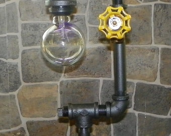 Retro Edison with globe bulb - Switch is on/off