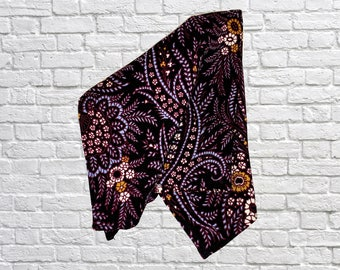 "Silk Pocket Square, Large, Purple/Black - 13""x13"" - Indigo - HereWeGo"