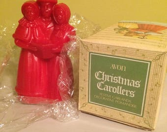 Avon Collectible Christmas Carollers Festive Garlands Decorative Pomander Original Package