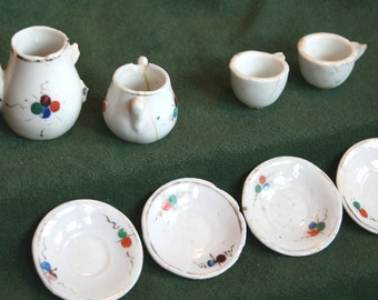 Antique Miniature China Tea Set, handpainted