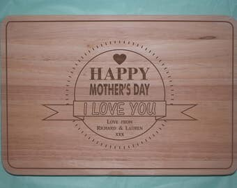 Laser engraved wooden Mother's Day Chopping board (Design 5)