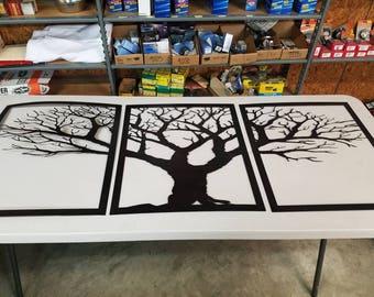 3 panel oak tree