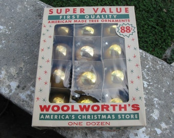 "Woolworth""s Tree Ornaments / Vintage Christmas Ornaments"