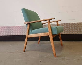 Vintage Armchair Scandinavian Style Mid Century Fully Rstored Upholstered