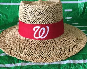 Washington Nationals straw hat