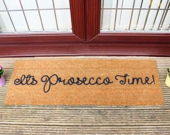 It's Prosecco Time doormat - 120x40cm - Alcohol - Summer - BBQ - Party gift