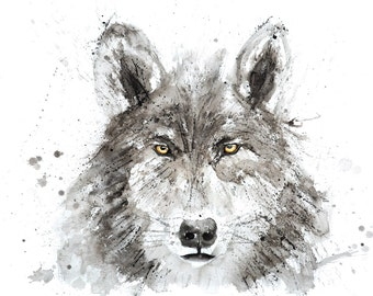 Wolf No.1 - Signed Print of my original watercolour painting