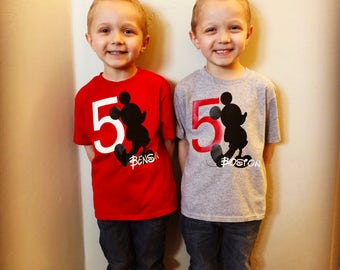 Mickey Mouse birthday shirts