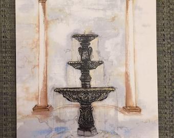 Belhaven Fountain|Art Print