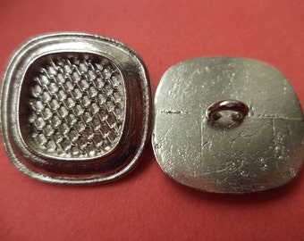 18 mm (1859) metal button buttons 10 METAL BUTTONS silver