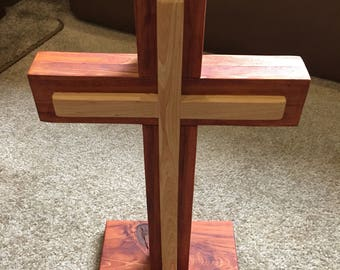 Wooden Cross ( Center Piece ) Removalbe  Base