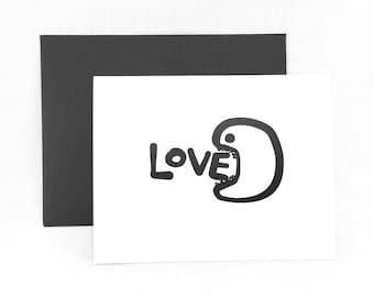 Blank Love Card