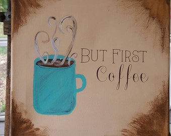 But first, coffee. Canvas
