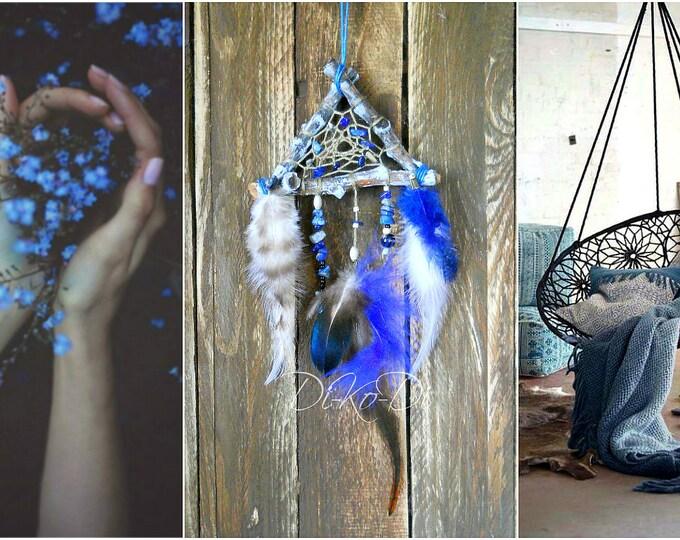 Dream catcher for bags, Dreamcatcher Feathers, Beads, unique, suspension, amulet, Lace, pendant car, keychain, bohodecor, boho, boheme