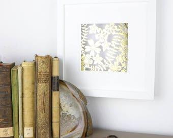 Golden Flower Meadow - Handmade Papercut