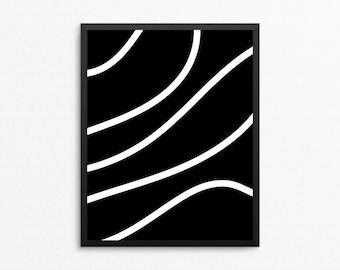 Black and White Art, Modern Digital Art, Abstract Art, Minimalist Art, Abstract Print, Modern Print, Digital Download, Digital Print