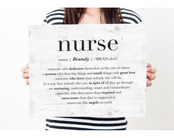 Personalized Gift for Nurse, Nurse Sign, Nurse Appreciation Gift, Thank You Nurse, Nurse Retirement Leaving Gift, Nurse Custom DIGITAL PRINT