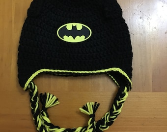 Crochet batman beanie/batman/crochet/batman hat