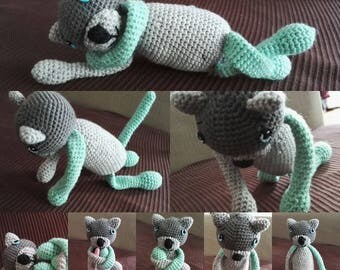 Amineko, doudou crocheted cat