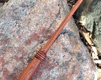 Harry Potter-inspired wand with unicorn hair core, reclaimed Honduras Mahogany wood Harry Potter-inspired wand