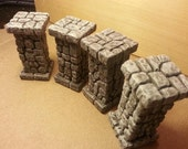 Dungeon FieldStone Pillars for Dungeons and Dragons, Pathfinder RPG. Dwarven Forge Compatible